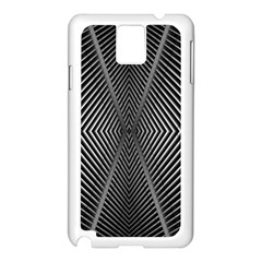 Abstract Of Shutter Lines Samsung Galaxy Note 3 N9005 Case (White)