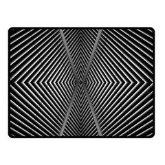 Abstract Of Shutter Lines Double Sided Fleece Blanket (Small)