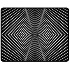 Abstract Of Shutter Lines Double Sided Fleece Blanket (Medium)