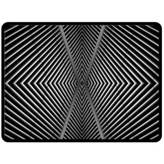 Abstract Of Shutter Lines Double Sided Fleece Blanket (Large)