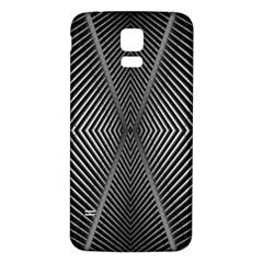 Abstract Of Shutter Lines Samsung Galaxy S5 Back Case (White)