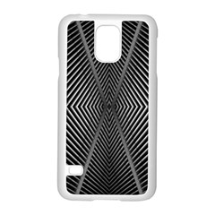 Abstract Of Shutter Lines Samsung Galaxy S5 Case (White)