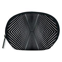 Abstract Of Shutter Lines Accessory Pouches (Medium)