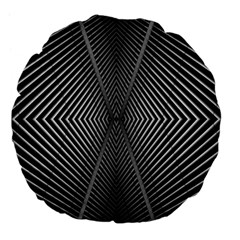 Abstract Of Shutter Lines Large 18  Premium Flano Round Cushions