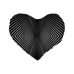 Abstract Of Shutter Lines Standard 16  Premium Flano Heart Shape Cushions
