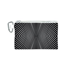Abstract Of Shutter Lines Canvas Cosmetic Bag (S)