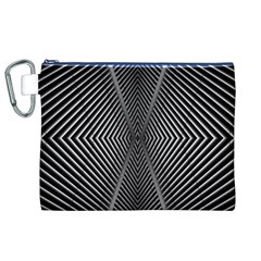 Abstract Of Shutter Lines Canvas Cosmetic Bag (XL)