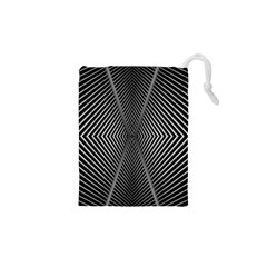 Abstract Of Shutter Lines Drawstring Pouches (xs)
