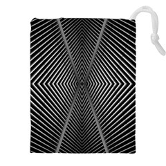 Abstract Of Shutter Lines Drawstring Pouches (xxl)