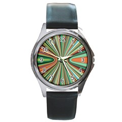 Colorful Spheric Background Round Metal Watch