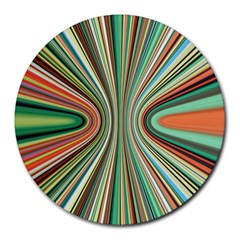 Colorful Spheric Background Round Mousepads