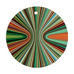 Colorful Spheric Background Ornament (round)