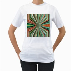 Colorful Spheric Background Women s T-Shirt (White) (Two Sided)