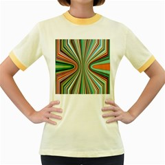 Colorful Spheric Background Women s Fitted Ringer T Shirts