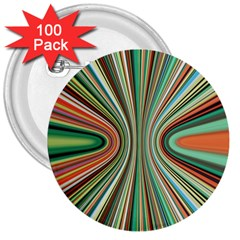 Colorful Spheric Background 3  Buttons (100 pack)