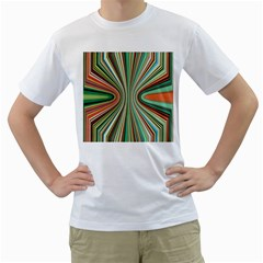 Colorful Spheric Background Men s T-Shirt (White) (Two Sided)