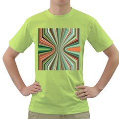 Colorful Spheric Background Green T-Shirt