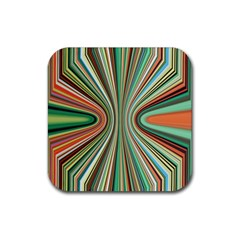 Colorful Spheric Background Rubber Square Coaster (4 Pack)