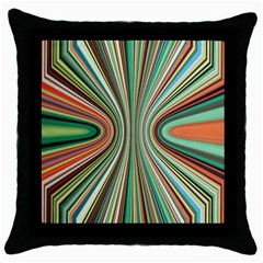 Colorful Spheric Background Throw Pillow Case (black)