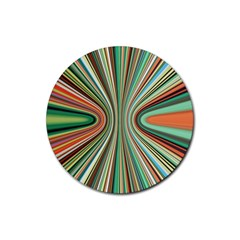 Colorful Spheric Background Rubber Coaster (Round)