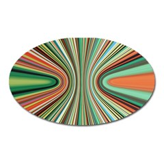 Colorful Spheric Background Oval Magnet