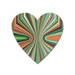 Colorful Spheric Background Heart Magnet