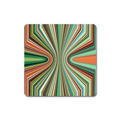 Colorful Spheric Background Square Magnet