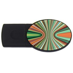 Colorful Spheric Background USB Flash Drive Oval (2 GB)