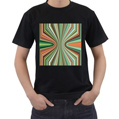 Colorful Spheric Background Men s T-Shirt (Black) (Two Sided)