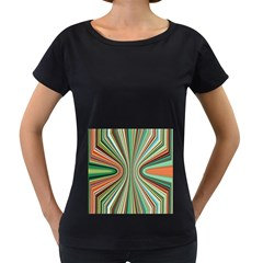 Colorful Spheric Background Women s Loose-Fit T-Shirt (Black)