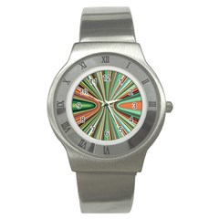 Colorful Spheric Background Stainless Steel Watch