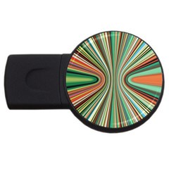 Colorful Spheric Background Usb Flash Drive Round (4 Gb)