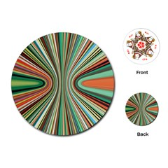 Colorful Spheric Background Playing Cards (Round)