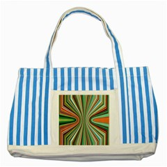 Colorful Spheric Background Striped Blue Tote Bag