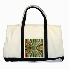 Colorful Spheric Background Two Tone Tote Bag
