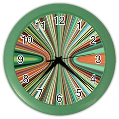 Colorful Spheric Background Color Wall Clocks