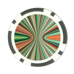 Colorful Spheric Background Poker Chip Card Guard