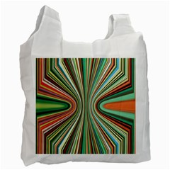 Colorful Spheric Background Recycle Bag (two Side)