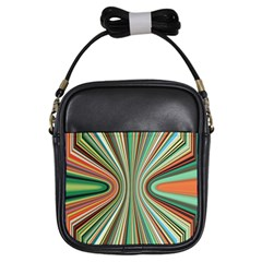 Colorful Spheric Background Girls Sling Bags