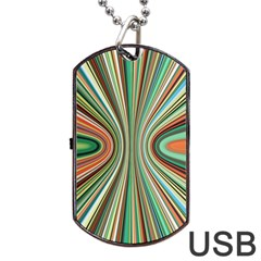 Colorful Spheric Background Dog Tag USB Flash (One Side)