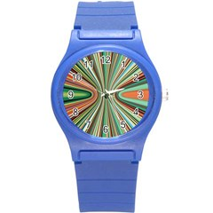 Colorful Spheric Background Round Plastic Sport Watch (S)
