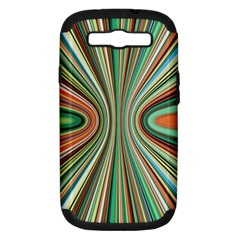 Colorful Spheric Background Samsung Galaxy S III Hardshell Case (PC+Silicone)