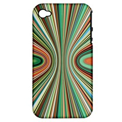 Colorful Spheric Background Apple Iphone 4/4s Hardshell Case (pc+silicone)
