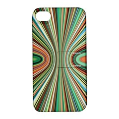 Colorful Spheric Background Apple iPhone 4/4S Hardshell Case with Stand