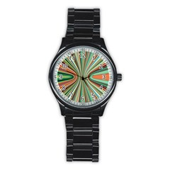 Colorful Spheric Background Stainless Steel Round Watch