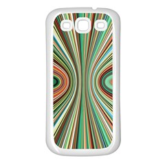 Colorful Spheric Background Samsung Galaxy S3 Back Case (White)