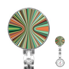 Colorful Spheric Background Stainless Steel Nurses Watch