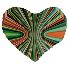 Colorful Spheric Background Large 19  Premium Flano Heart Shape Cushions