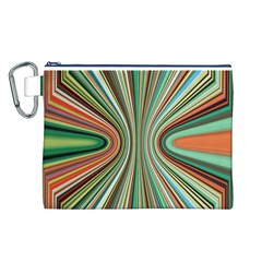 Colorful Spheric Background Canvas Cosmetic Bag (l)