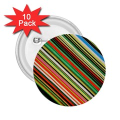 Colorful Stripe Background 2.25  Buttons (10 pack)